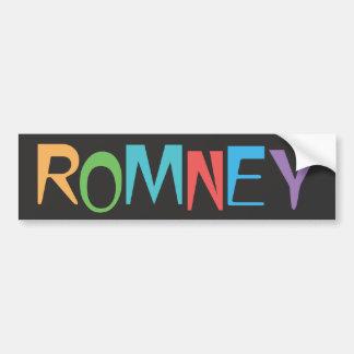 Colorful Romney - Mitt Romney 2012 Gear Bumper Stickers