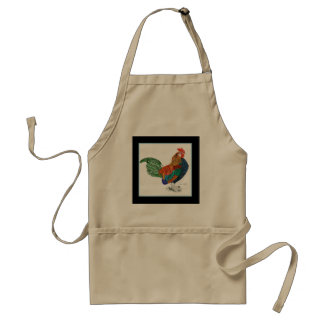 Colorful rooster apron