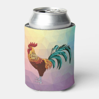 COLORFUL ROOSTER CAN COOLER