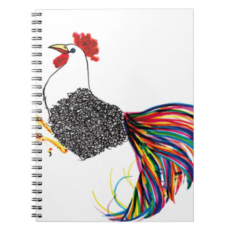 Colorful Rooster Note Books