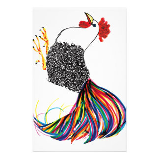 Colorful Rooster Personalized Stationery