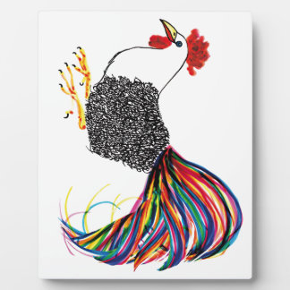 Colorful Rooster Photo Plaque
