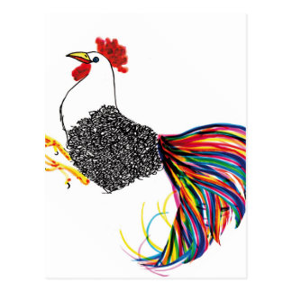 Colorful Rooster Postcard
