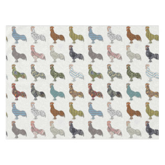 Colorful Rooster Retro Pattern Tablecloth