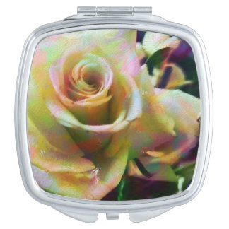 Colorful Rose Compact Mirror