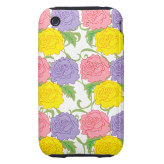 Colorful Roses and Vines Tough iPhone 3 Case