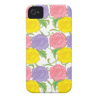 Colorful Roses and Vines iPhone 4 Cover