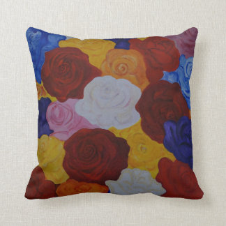 colorful roses cushion