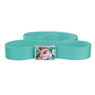Colorful Roses & Flowers Belt