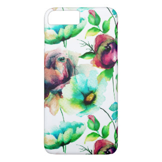 Colorful Roses & Flowers Collage iPhone 7 Plus Case
