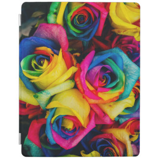 Colorful roses iPad cover