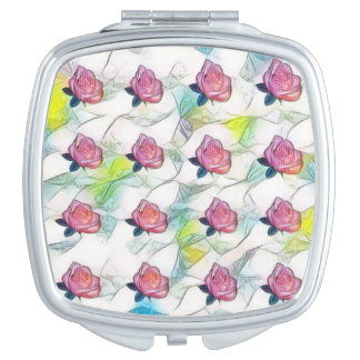 Colorful Roses Vanity Mirrors