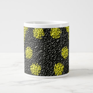 Colorful rough texture extra large mugs