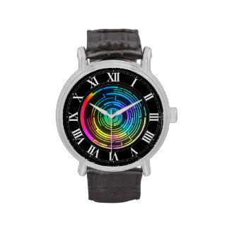 Colorful Round Rainbow Maze Wrist Watch