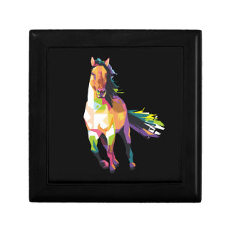 Colorful Running Horse Stallion Equestrian Gift Box
