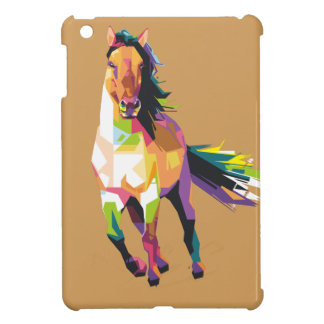 Colorful Running Horse Stallion Equestrian iPad Mini Cover