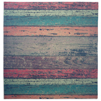 Colorful Rustic Beach Wood Napkin