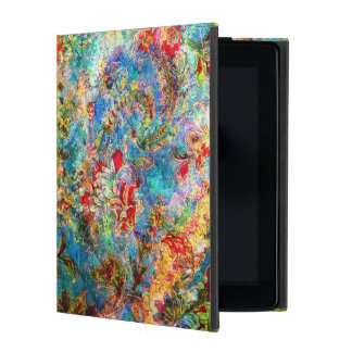 Colorful Rustic Floral Design iPad Folio Cover