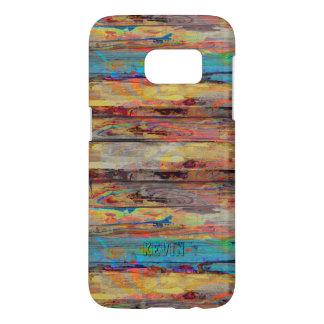 Colorful Rustic Painted Wood Boards