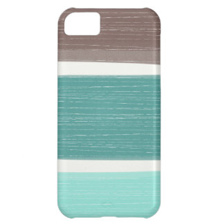 Colorful Rustic Wide Stripes iPhone iPhone 5C Case