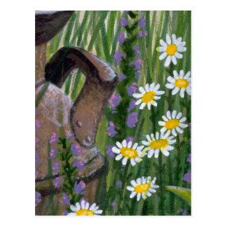 Colorful Rusty Milk Jug Postcard