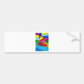 Colorful Sail Bumper Sticker