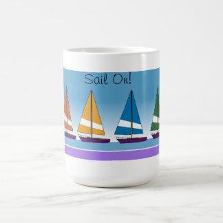 Colorful Sailboats Coffee Mug