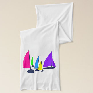 Colorful Sailboats Scarf
