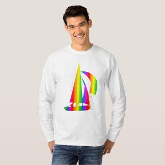 Colorful Sailing Rainbow Long Sleeve T-Shirt