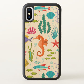 Colorful Salt-Water Life & Animals iPhone X Case