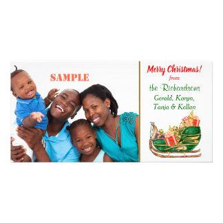 Colorful Santa Sleigh Card