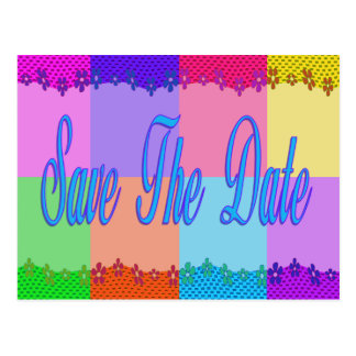 Colorful Save the Date Post Cards