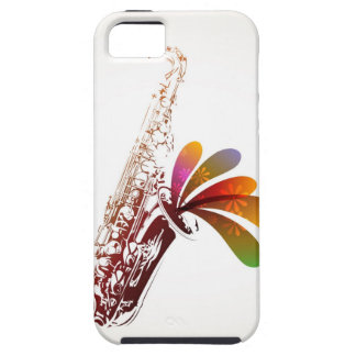 Colorful Sax iPhone 5 Case