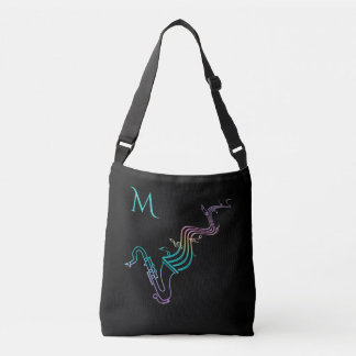 Colorful Saxophone on Customizable Color Tote Bag