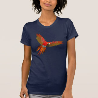 Colorful Scarlet macaw fly art T-Shirt