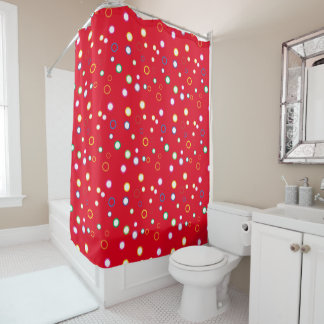 Colorful Scattered Circles Shower Curtain