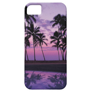 Colorful Scene of Palm Trees at Sunset iPhone 5 Cover