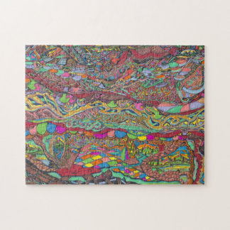 Colorful Scenery In Mazes Jigsaw Puzzle