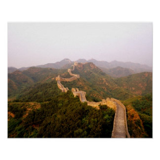 Colorful scenic at the great Wall of China in Poster