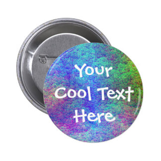 """""""Colorful Sea Bed III"""" Template 6 Cm Round Badge"""