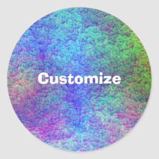Colorful Sea Bed III - Template Classic Round Sticker
