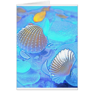 Colorful Sea Glass Card