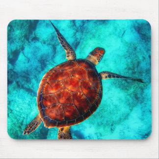 Colorful Sea Turtle Mouse Pad