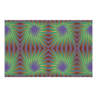 Colorful seamless spiral pattern custom stationery