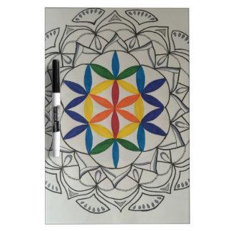 Colorful Seed of Life Mandala Dry Erase Whiteboards