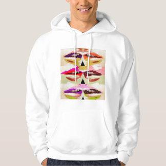 Colorful sensual lips fine art hoodie