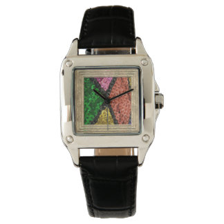 Colorful Sequins Bling Pattern Watch