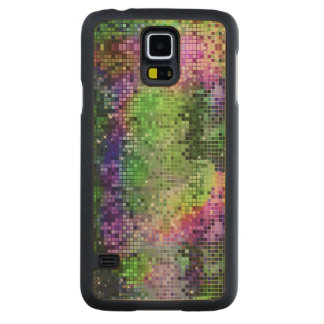 Colorful Sequins Look Disco Mirrors Pattern 6 Carved Maple Galaxy S5 Case