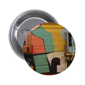 Colorful Shacks Buenes Aires Argentina Buttons