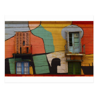 Colorful Shacks Buenes Aires Argentina Postcard